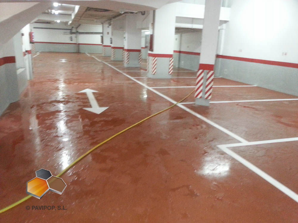 parking hormigon pulido Apart Hotel Los Rosales Madrid